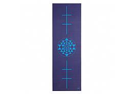Коврик для йоги Bodhi Leela янтра 183 x 60 x 0.4 см Синий 000000270, КОД: 201098