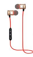 Беспроводные Bluetooth наушники Гарнитура с микрофоном Красный