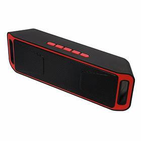 Портативная bluetooth колонка SPS SC-208 BT MP3 Черно-красный 6046145, КОД: 197690