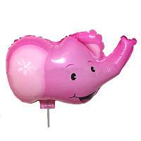 Фольгированный шар комплект Слоник розовый Китай