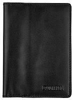 Кожаная обложка-портмоне для паспорта и документов Valenta Черная ОУ-108, КОД: 298107