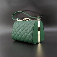 Сумка-клатч малая кожзам женская зеленая Rose Heart 8636-1