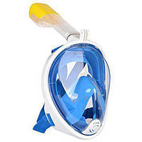 Инновационная маска для снорклинга подводного плавания Easybreath голубая, фото 1