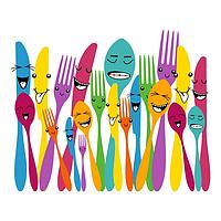 Виниловая Наклейка Glozis Spoon and Forks E-057, КОД: 147571