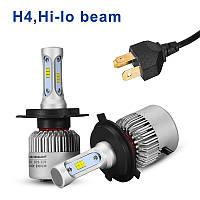 Комплект (2шт) светодиодных автомобильных ламп LED ламп S2 H4 4Drive, фото 1
