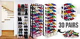 Полиця для взуття Amazing Shoe Rack на 30 пар, фото 7