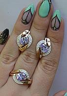 Гарнитур из серебра с золотыми пластинами, фото 1