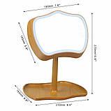 Косметичне дзеркало з Сенсорним Екраном| C Підсвічуванням + Настільна лампа 2 в 1 Mirror Lamps, фото 7