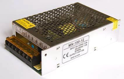 Блок питания 12V 180W (15A) compact