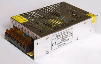 Блок питания 12V 240W (20A) compact