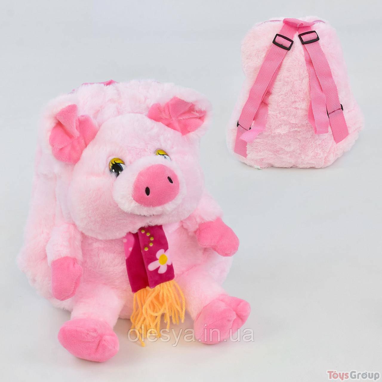 Детский рюкзачок в виде забавной свинки
