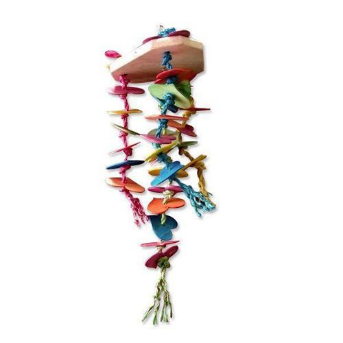 Игрушка Montana Cages H77124 'Сердце и вещи' для попугаев 18 см/18 см/56,5 см