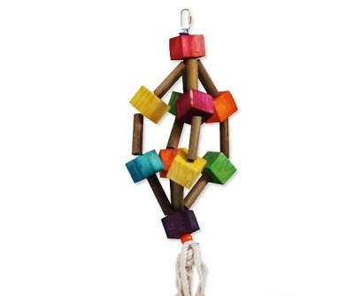 Игрушка Montana Cages H77144 'Дерево и фонари' для попугаев 20 см/16 см/53 см
