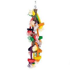 Игрушка Fop 61000270 для попугаев деревянная цветная 46 см