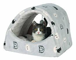 Домик-туннель Trixie Mimi Cuddly Cave плюшевый, серый, 42х35х35 см