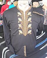 Вышиванка футболка длинный рукав мужская 2528 размер 54 (р-с-п