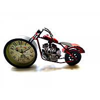 """Часы настольные """"Мотоцикл"""" красные (28х15х7,5 см)"""