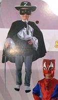 Карнавальный костюм Зорро 4-7  лет