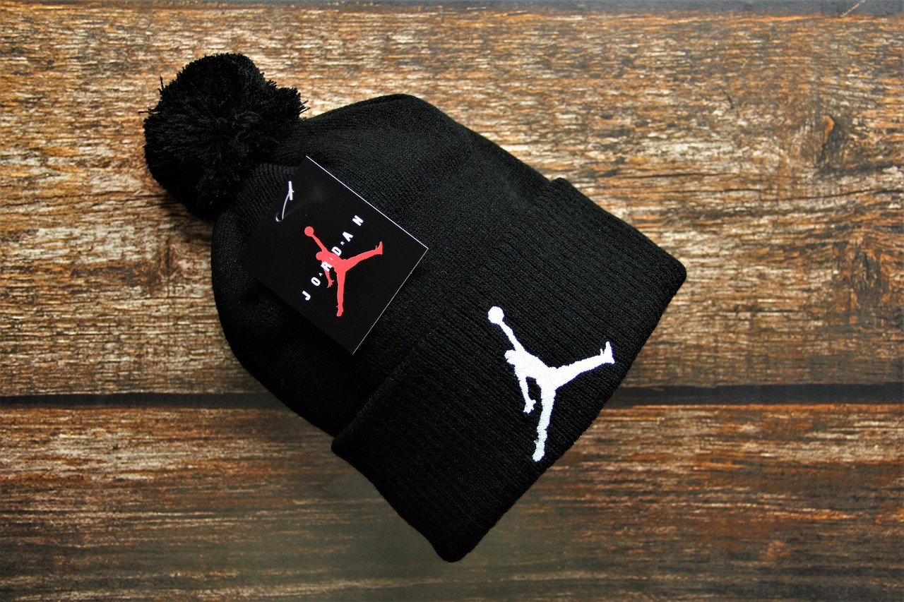 Шапка мужская Jordan. Зимняя стильная шапка. ТОП качество!!! Реплика