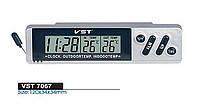 Часы автомобильные с выносным датчиком 7067(7066)