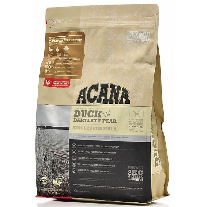 Acana Duck & Bartlett Pear корм для собак всех пород, 6 кг