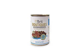 Консервы Brit Boutiques Gourmandes Duck для собак, утка в паштете, 400 г
