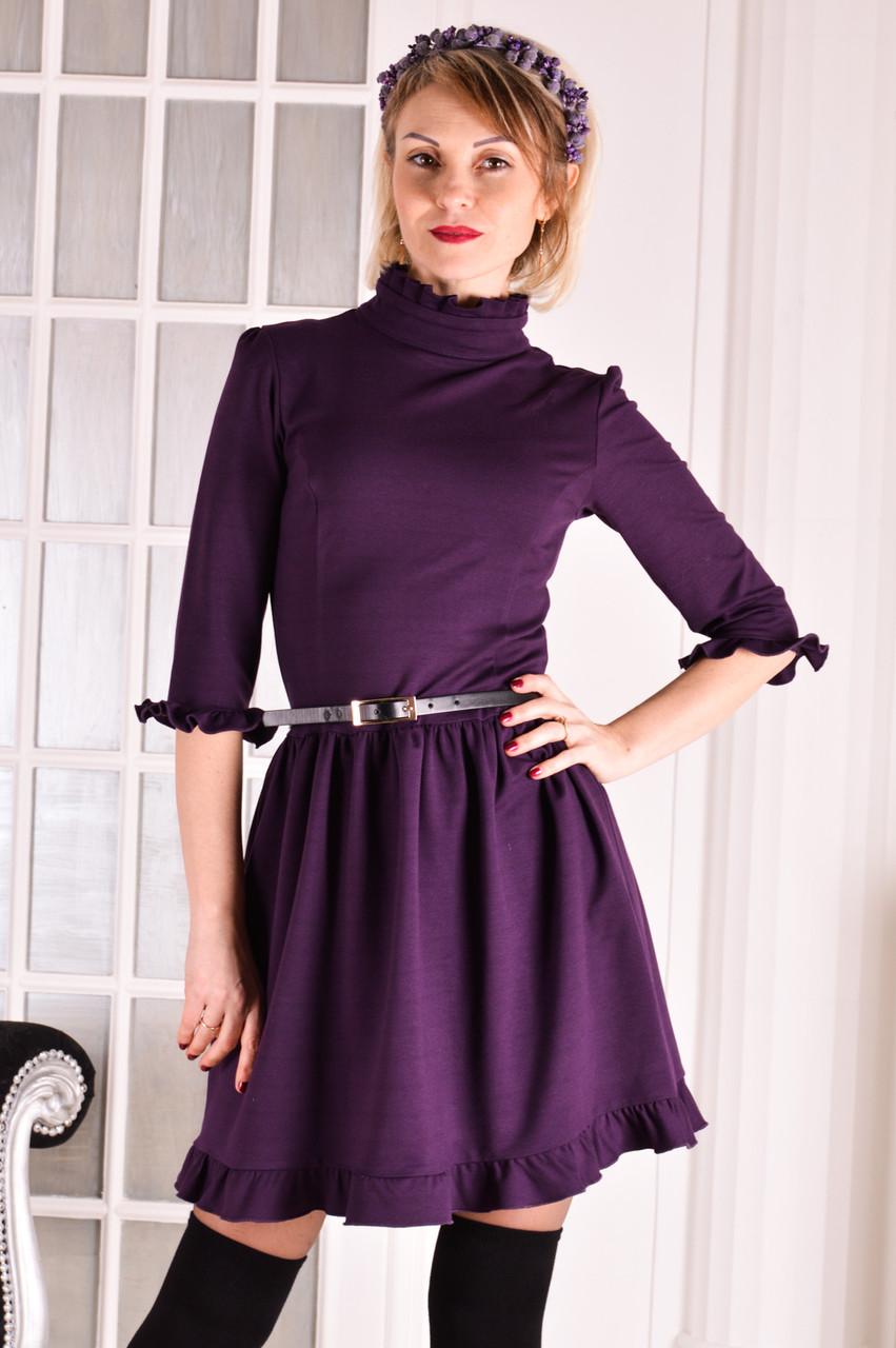 Женское трикотажное платье фиолетовое Michael  размер 40-42