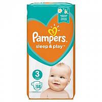 Подгузники Pampers Sleep&Play 3 (6-10 кг), 58 шт.