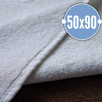Махровые полотенца Узбекистан, пл.:500 гр./м2, 50х90 см., Цвет: Белый