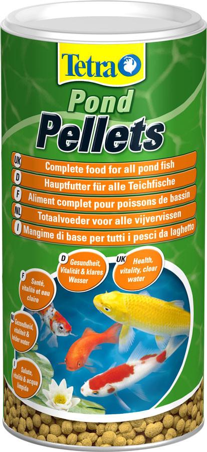 Tetra Pond Pellets Medium корм для всех прудовых рыб в гранулах, 1 л