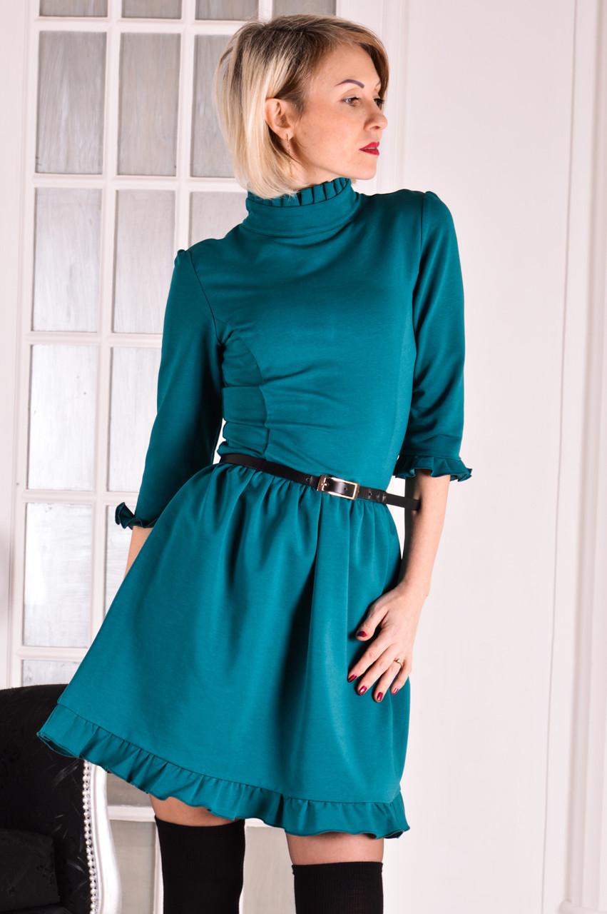 Женское платье изумрудный  Michael размер 40-44