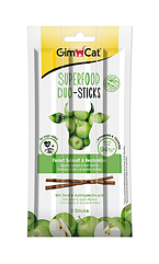 Мясные палочки Gimcat Superfood Duo-Sticks для кошек с говядиной и яблоками, 3 шт