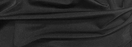 Трикотаж Бифлекс, Матовый, черный, фото 2