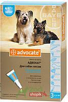 Защита от блох и клещей Bayer Advocate для собак от 4 до 10 кг.