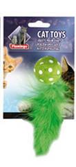 Мяч Karlie-Flamingo Polka Ball для кошек тканевый, 4х14 см
