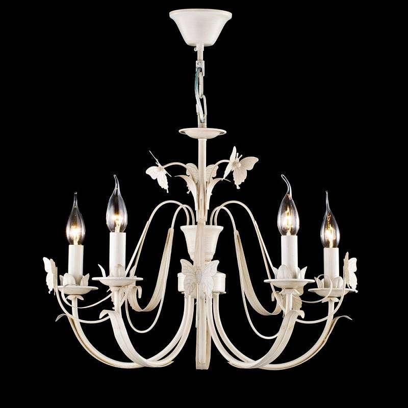 Люстра-свечи с бабочками «Freya Farfalla» FR3043-PL-05-BG