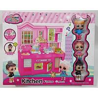 Детская игровая кухня LoL для девочки ( 3 куклы ) Световые и звуковые эффекты