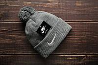 Шапка мужская Nike. Зимняя стильная шапка. ТОП качество!!! Реплика