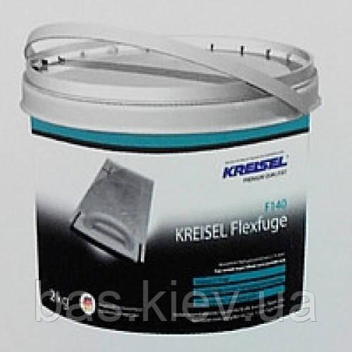 Kreisel F-140 (Светло серый) затирка для швов эластичная, водостойкая, слой 2-15мм 2кг