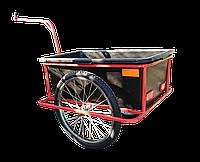 Велоприцеп грузовой с пластиковым кузовом и сцепкой