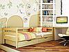 Дерев'яне дитяче ліжко Нота з захисною планкою Естелла