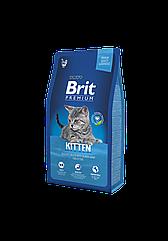 Сухой корм Brit Premium Kitten для котят с курицей 8 кг