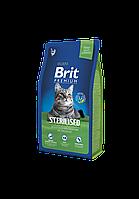 Сухой корм для стерилизованных кошек Brit Premium Sterilized 8 кг