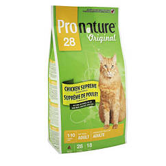 Pronature Original Adult Chicken Supreme корм для взрослых кошек с курицей, 5.44 кг