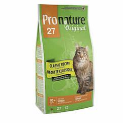 Pronature Original Senior (Сеньор) корм для пожилых и малоактивных кошек, 5.44 кг