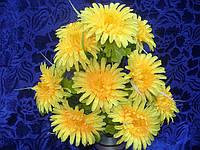 Искусственные цветы, букет хризантема гигант (5 шт в уп)