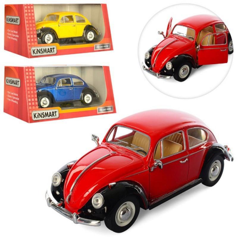"Мелаллическая машинка ""1967 Volkswagen Classical Beetle"" Kinsmart KT7002W 16.5см 1:24"
