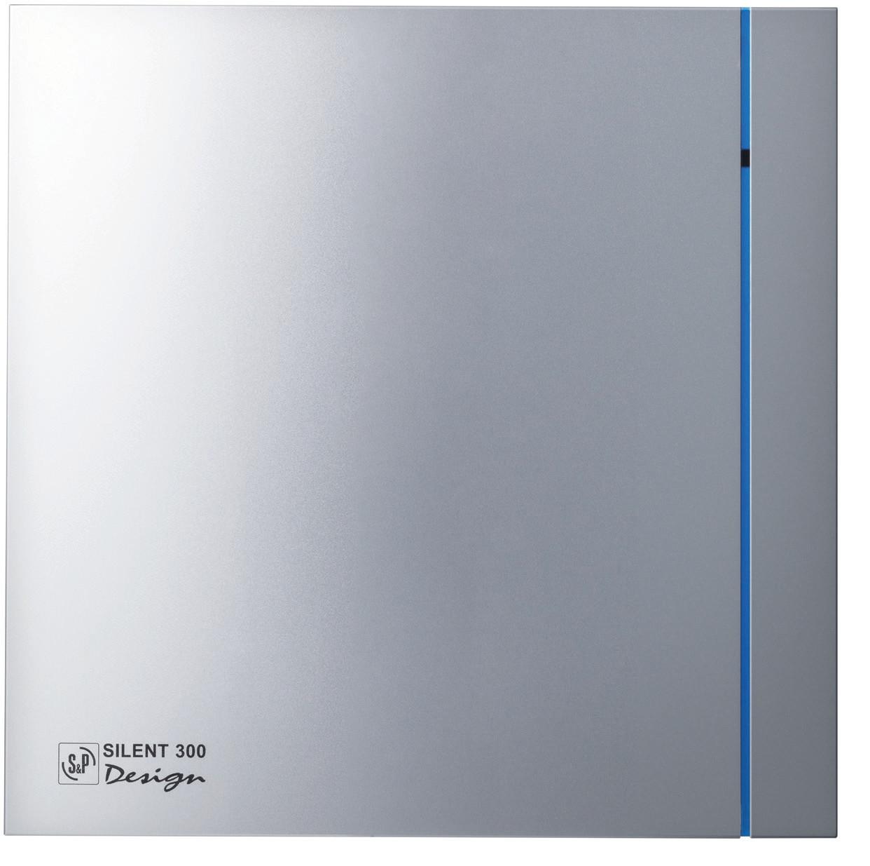 Вентилятор бытовой осевой S&P SILENT-100 CZ SILVER DESIGN (230V 50)