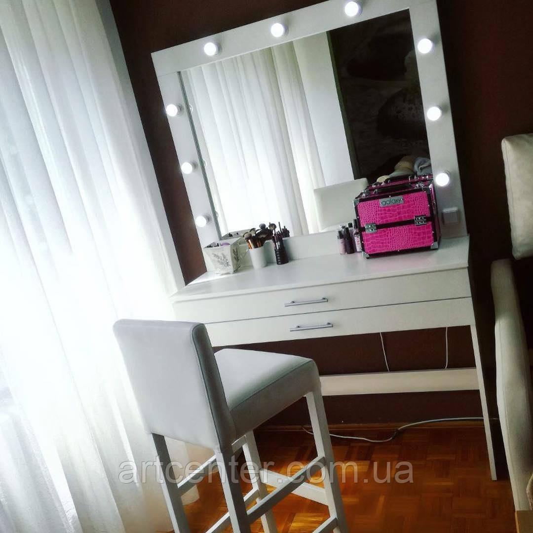 Стол с гримерным зеркалом, туалетный стол с ящиками