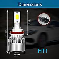 LED лампа H11(H8,H9), ПРОТИВОТУМАНКИ, дневные ходовые огни, ближний свет, фото 1